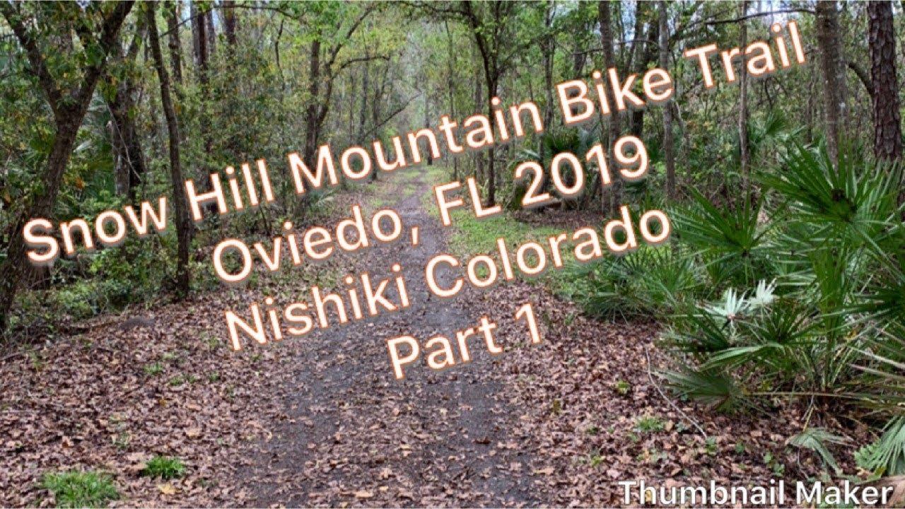 Snow Hill Mountain Bike Trail in Oviedo, Florida with Nishiki Colorado (Muddy)