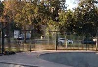 BMX Biker falha em salto sobre a grade!