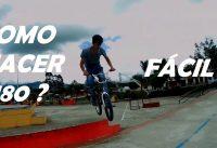 BMX/ COMO HACER 180  EN PLANO ** FACIL  / 180 BOONY HOP AEREO + EXTRA   - BMXFB