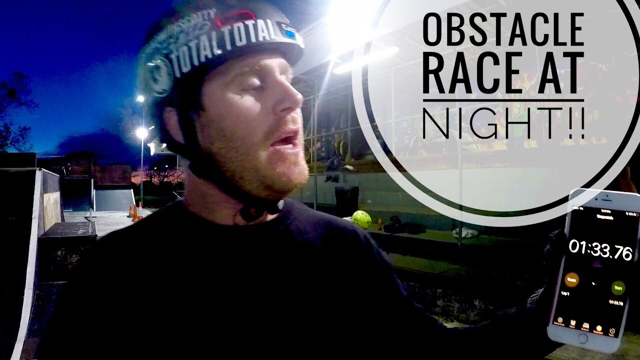 BMX OBSTACLE COURSE RACE IN THE DARK!!