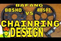 Bafang BBSHD 1000w mid-drive • 46T Chainring Design Overview • Electric Bike 48v BBS02 8fun motor