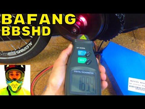 Bafang BBSHD 1000w mid-drive • Custom programming RPM test • Electric Bike 48v BBS02 8fun motor