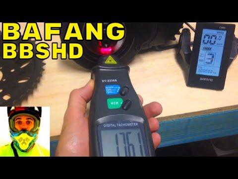 Bafang BBSHD 1000w mid-drive • Factory settings RPM test • Electric Bike 48v BBS02 8fun motor