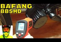Bafang BBSHD 1000w mid-drive • Temperature (heat) after ride • Electric Bike 48v BBS02 8fun motor