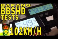 Bafang BBSHD 1000w mid-drive • unloaded wheel test = 102km/h • Electric Bike 48v BBS02 8fun motor