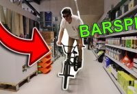 Barspin en BMX dans un SUPERMARCHÉ