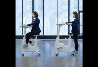 #Bike Stand up Folding Exercise Desk Cycle Height Adjustable Office Desk Stationary Exerci