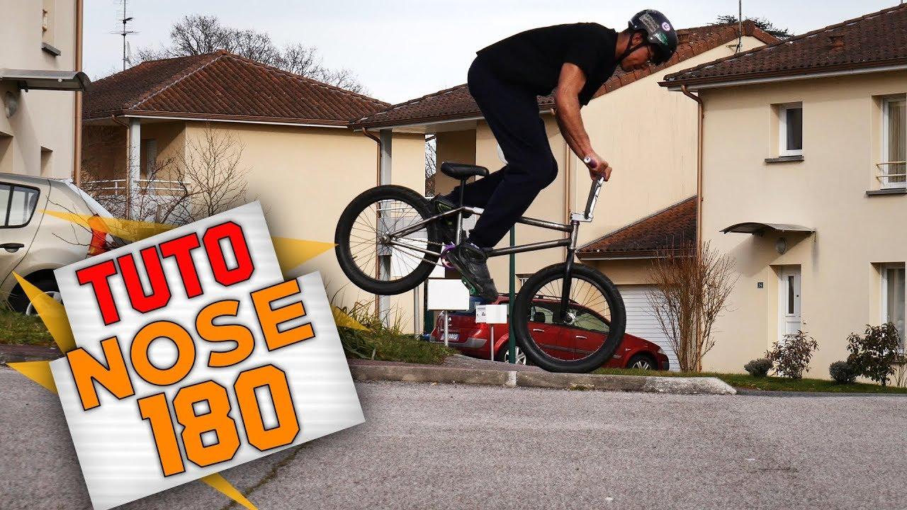 COMMENT FAIRE UN NOSE 180 EN BMX ? - TUTO EXPRESS DEBUTANT - HOW TO NOSE 180 ON BMX ?