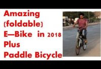 DIY Foldable E-Bike + paddle bicycle | DIY Folding Electric Bike |  DIY E-Bikes