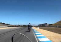 DIY electric bicycle races motorcycles on Laguna Seca!  Ebike Liveforphysics!