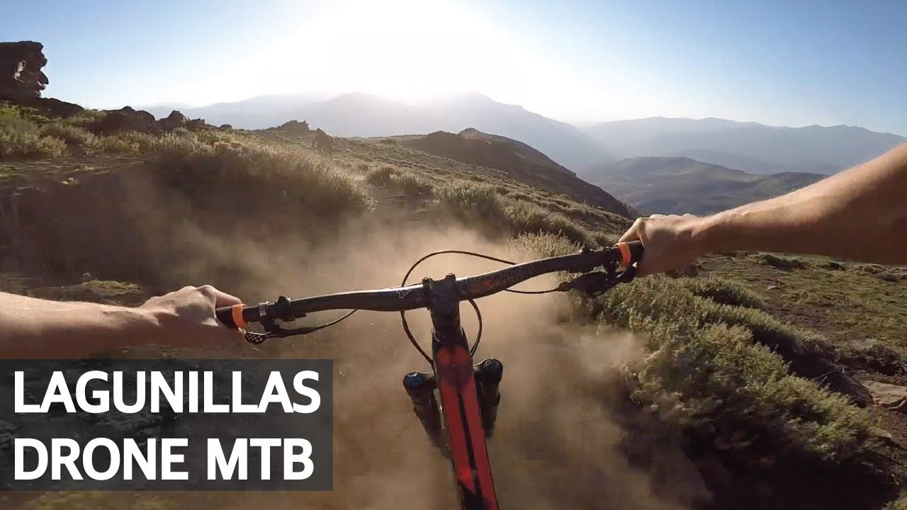 Downhill y Mini Drone grabando Mountain Bike en Lagunillas!