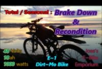 E~1 Dirt~Mo Bike Seasonal Recondition