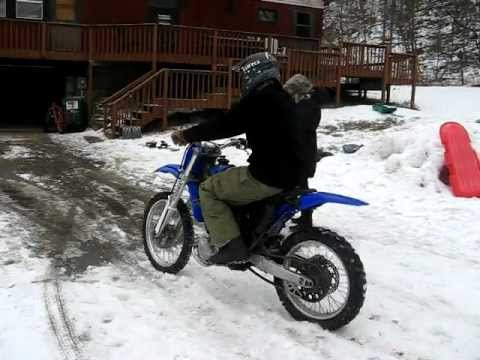 Electric Dirt Bike in the Snow