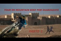 En mountain bike por Ouarzazate! El Hollywood de Marruecos!!