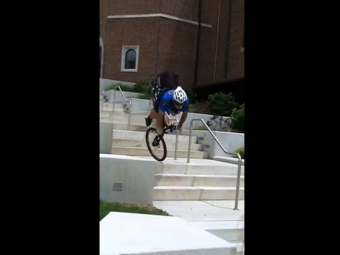 Fail: Policeman's stunt on a Mountain Bike goes really Wrong!
