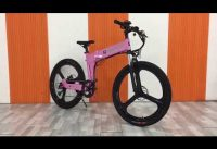 Folding electric bikes in pink, for RV owner ebike, boat owner ebike, student ebike, commuter ebike