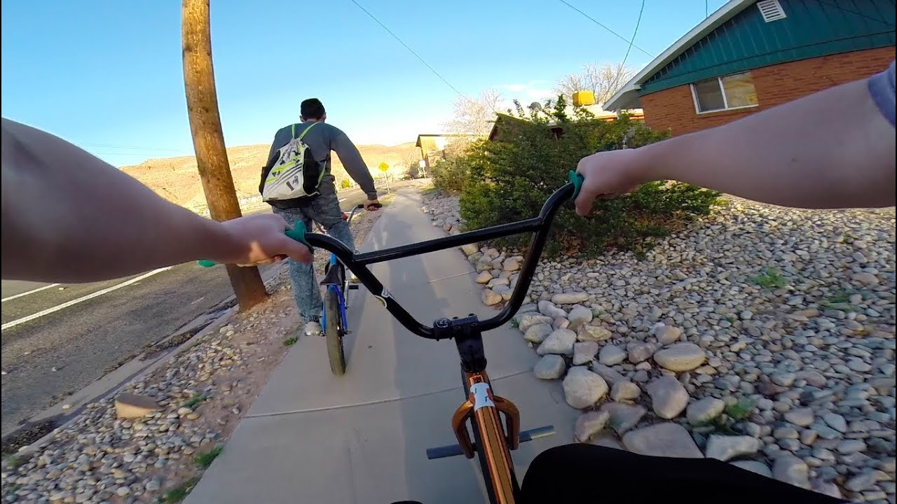 GoPro BMX Riding The Streets of Moab Utah (BROKEN CHAIN!!)