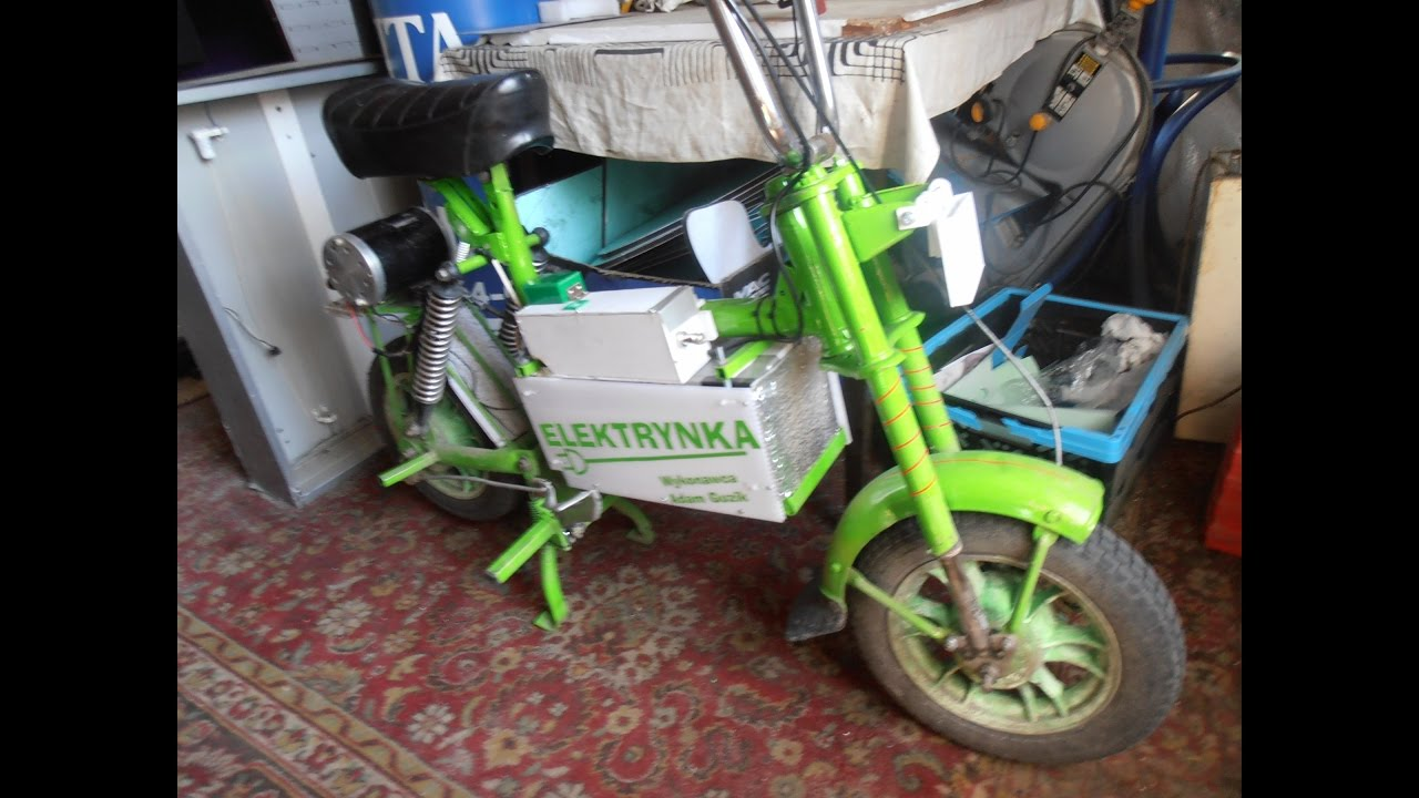 Homemade Electric Motorcycle Before Renovation