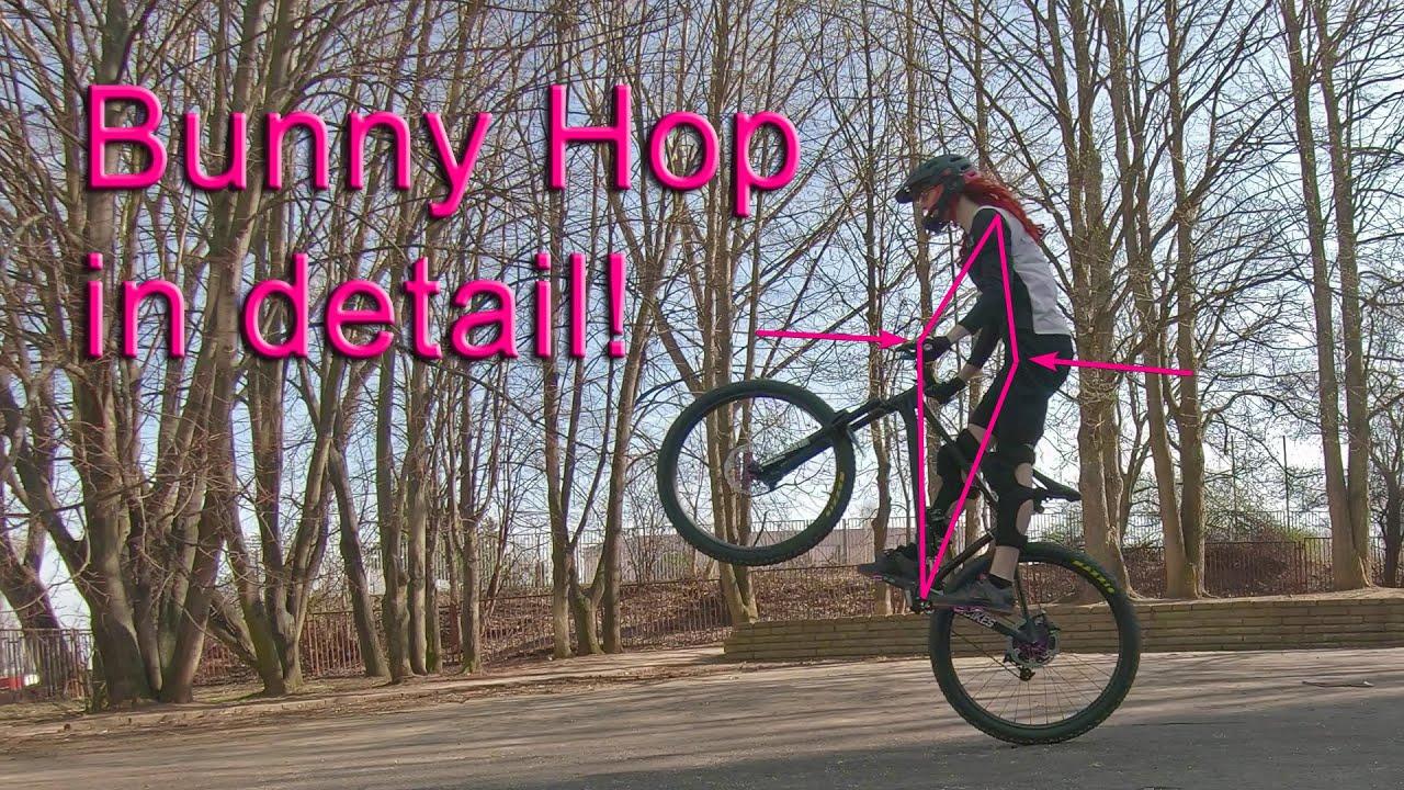 How to Bunny Hop a Mountain Bike in detail (English language)