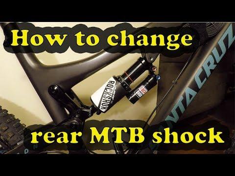 How to change rear mountain bike shock | Rockshox Monarch to Rockshox Vivid Air