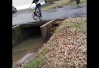 I jupped of a bridge on a BMX