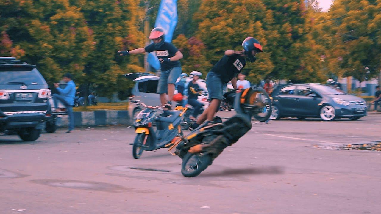 Kalau BMX Freestyle keren kan, kalau Motor Matic gimana?
