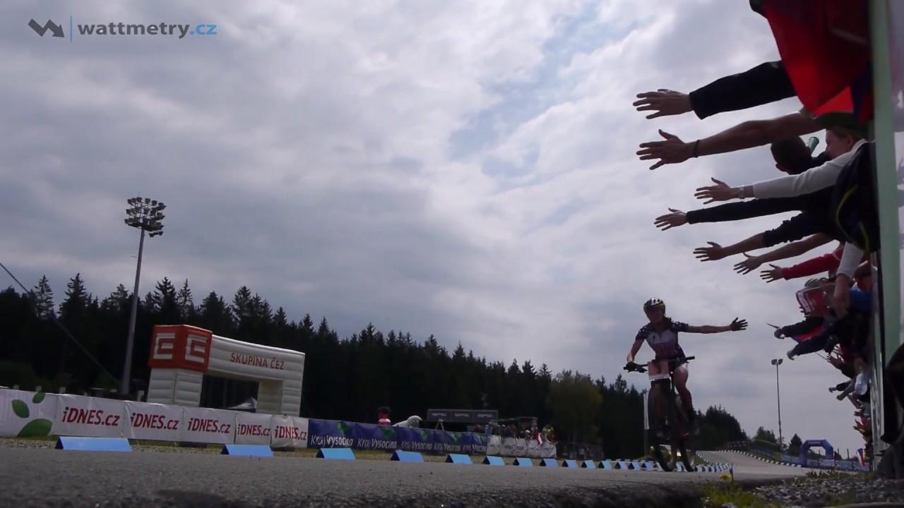 Kate Courtney wins U23 Women race 2017 UCI Mountain bike World Cup XCO in Nove Mesto Czech Rep.