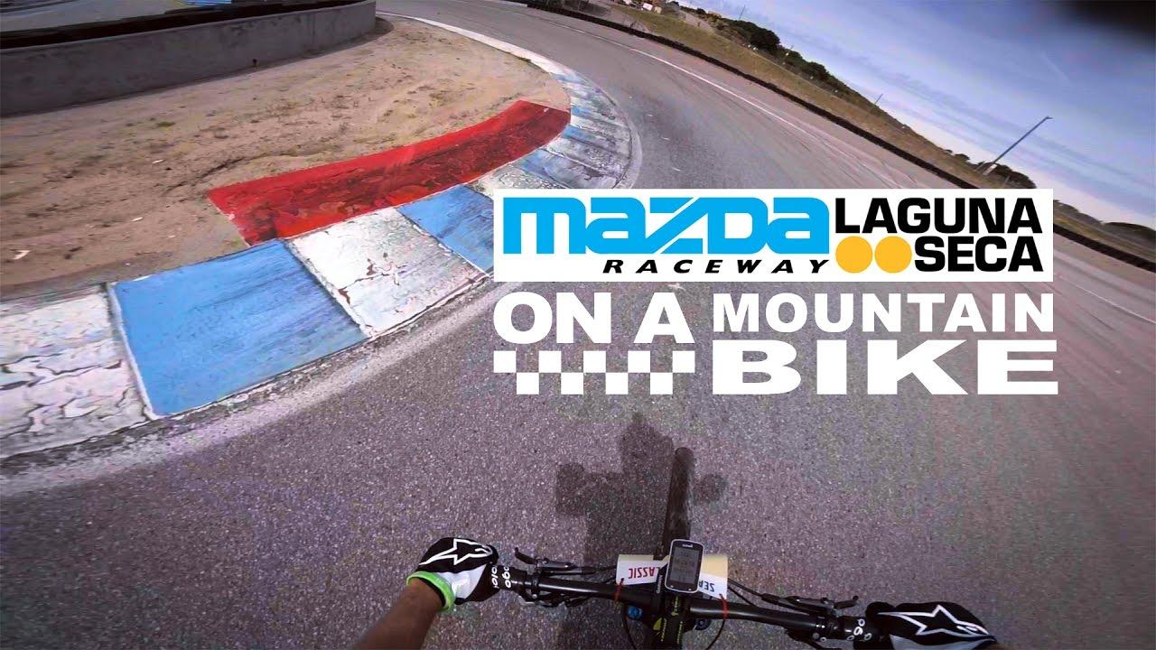 Laguna Seca on a Mountain Bike