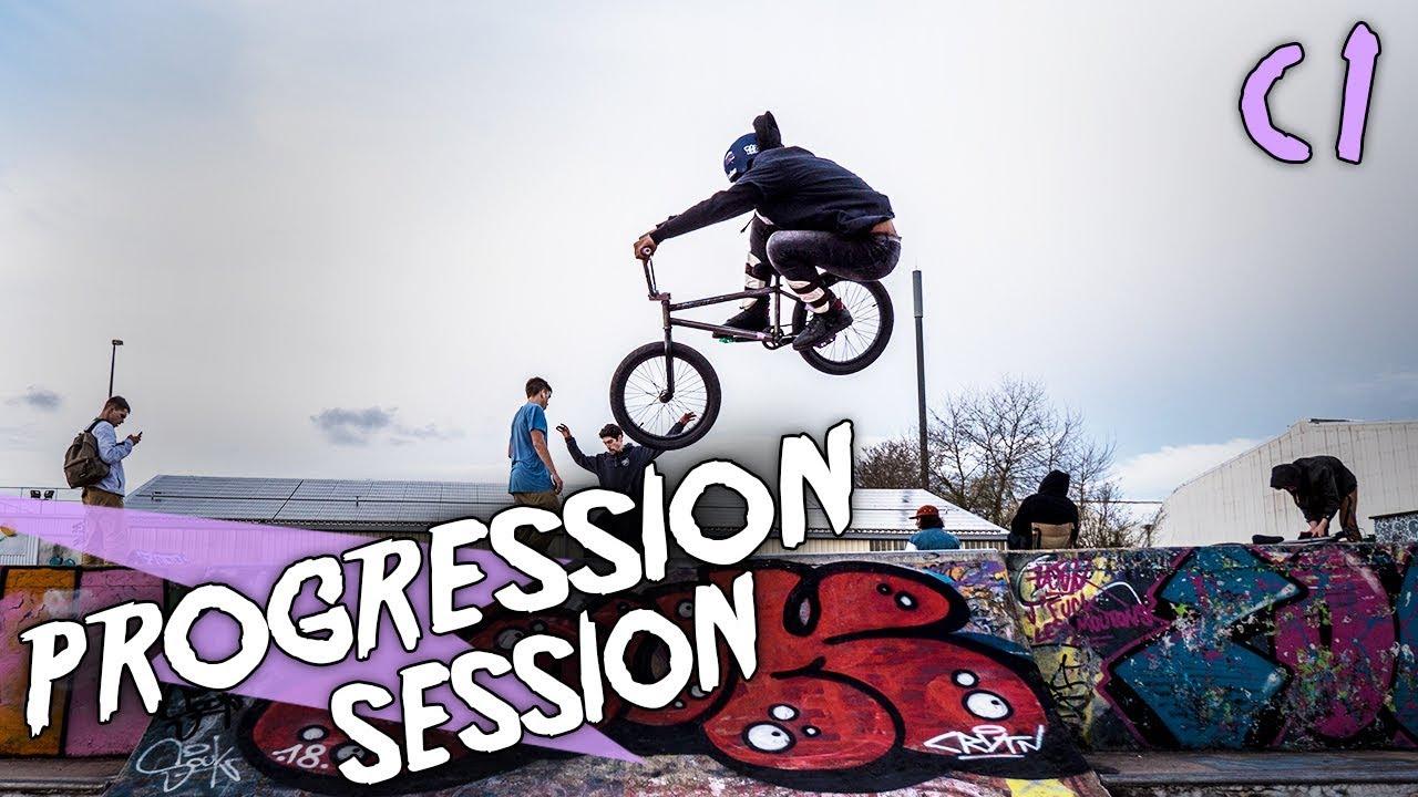 MON PREMIER GROS GAP 360 EN BMX ! Progression Session Cameron #1