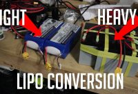 MTB Plan B - Electric Motorcycle sealed lead acid to LiPO battery conversion.