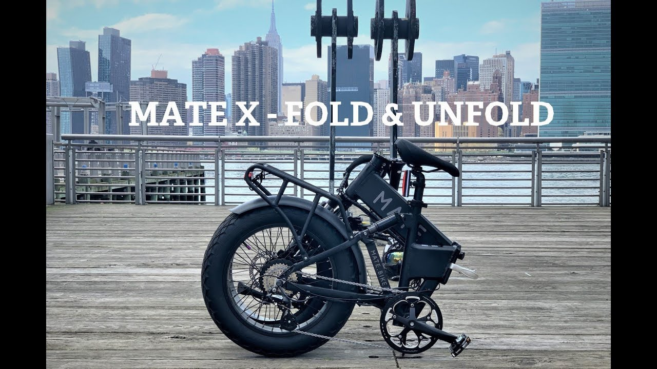 Mate X Bike 750S   Folding Unfolding Demo