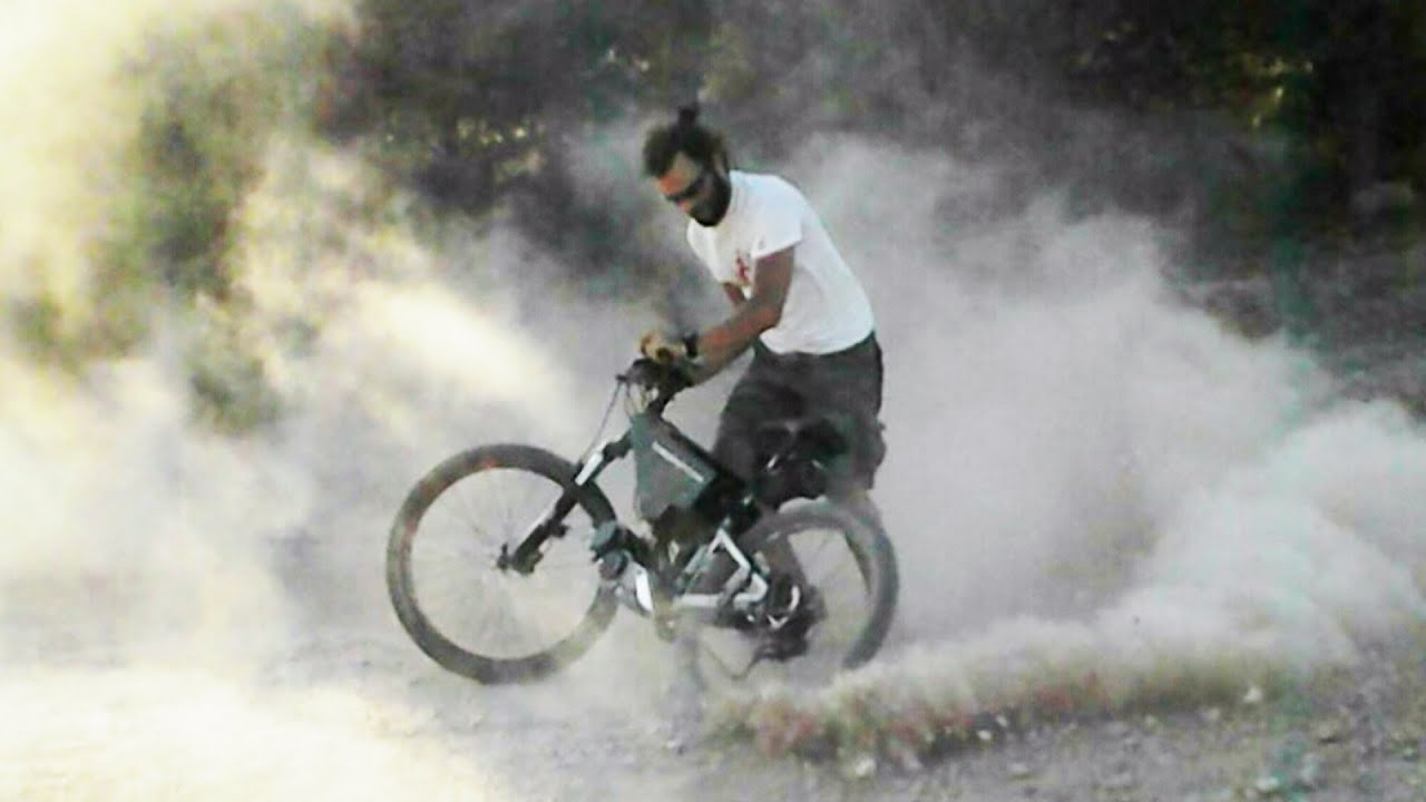 More Power by Cyclone 5000 Watt 48 Volt e-bike in a Mountain Ride
