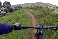 Mountain biking - Down the edge trail in Iceland