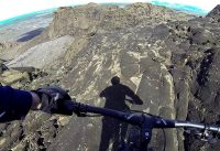 Mountain biking Helgafell Iceland - full suspension Canyon