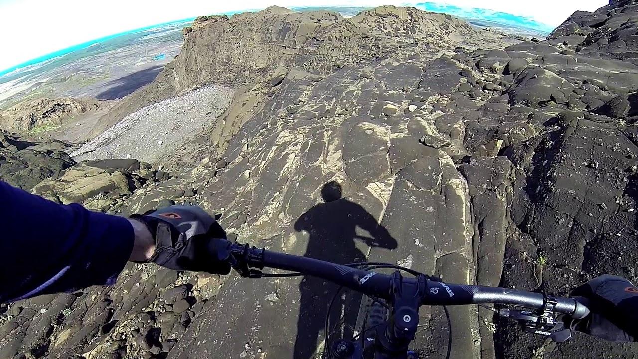 Mountain biking Helgafell Iceland - full suspension Canyon