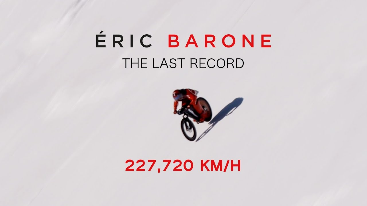 (OFFICIAL) Eric Barone - 227,720 km/h (141.498 mph) - Mountain Bike World Speed Record - 2017