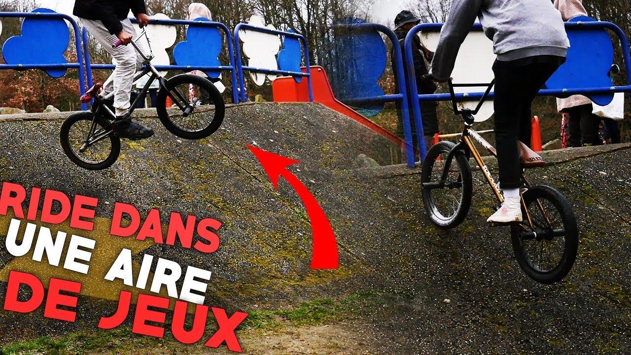 ON RIDE EN BMX DANS DES JEUX POUR ENFANTS !