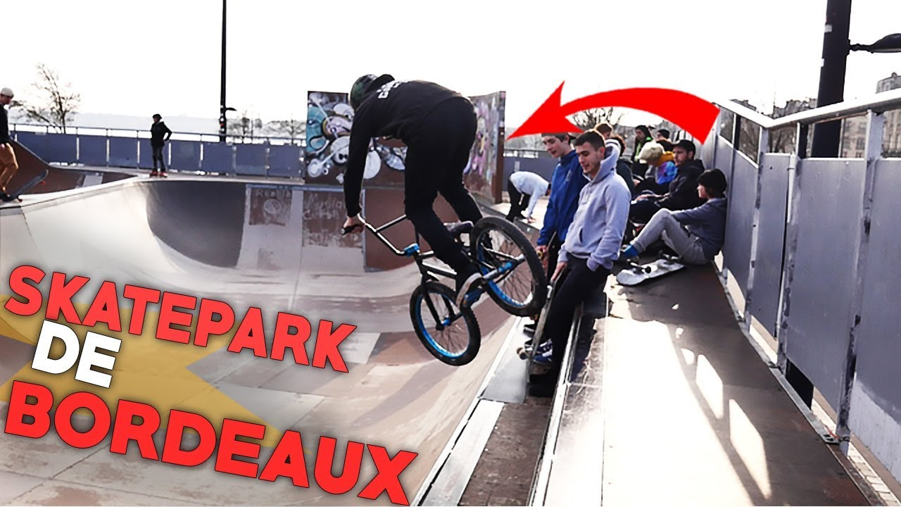 ON RIDE LE SKATEPARK DE BORDEAUX EN BMX ! - minivlog #2