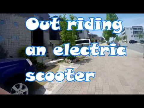 OUT Riding my Electric Scooter Kobe Japan