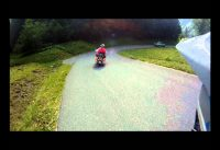 Overtaking a Harley Davidson on a Downhill Mountain Bike