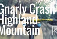 POV | GNARLY CRASH!  - Highland Mountain Bike Park | Phil Kmetz