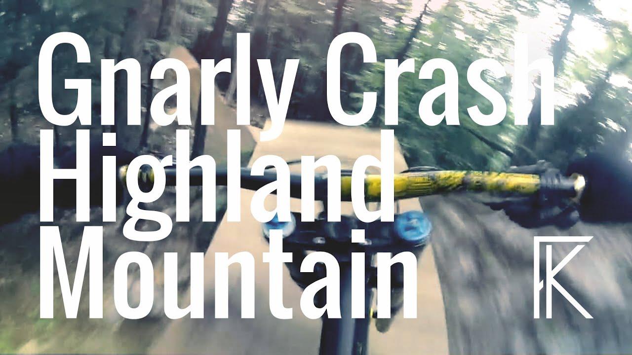 POV | GNARLY CRASH!  - Highland Mountain Bike Park | Phil Kmetz