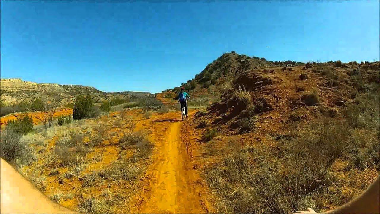 Palo Duro Canyon Mountain Biking at 8 times speed.