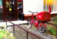 Papa John's Red Electric Bike (Moscow)