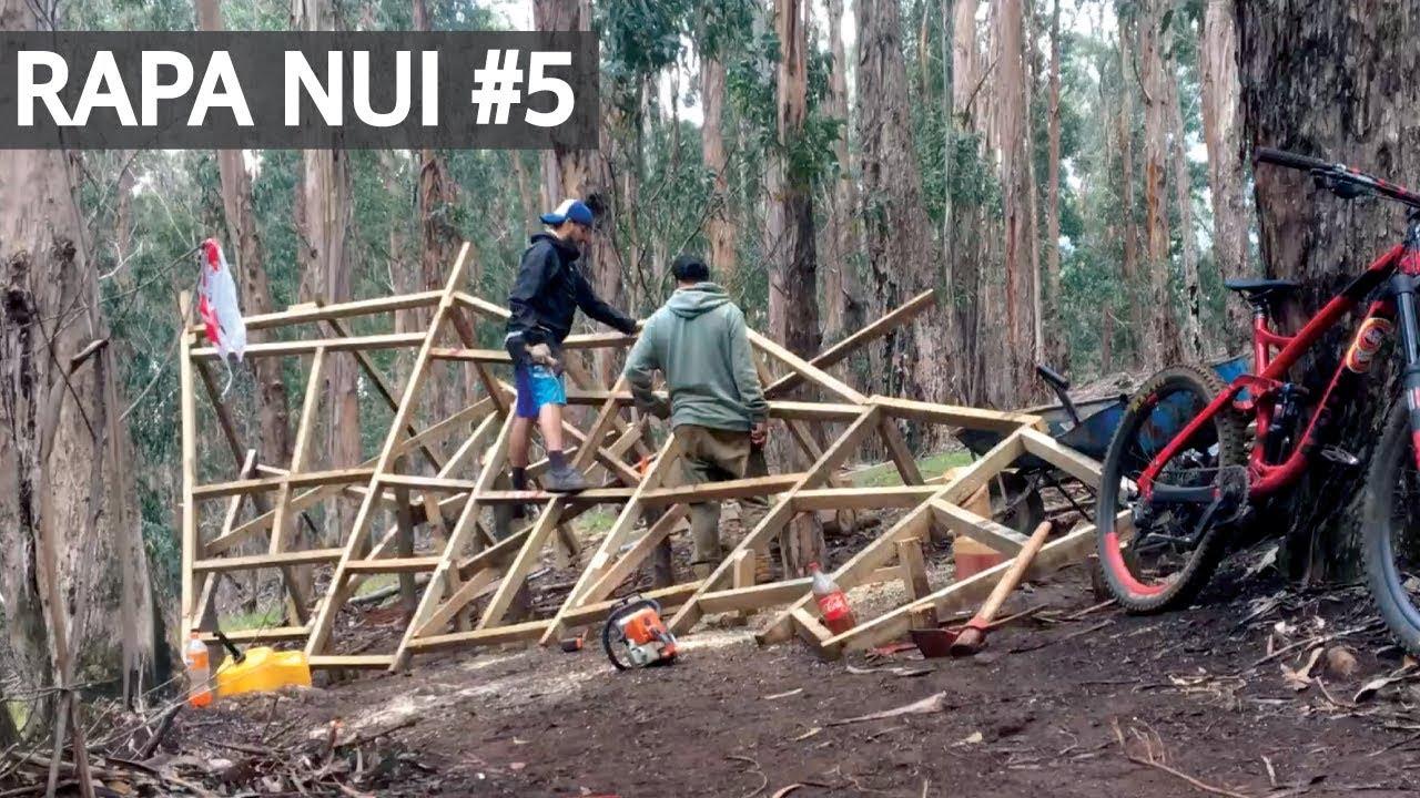 Rapa Nui #5 Construyendo un Wall Ride de Mountain Bike en Isla de Pascua!