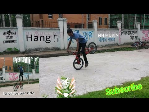 Reverse handle bar and portal roll||bmx stunts||NH MUBIN | | BCRZ