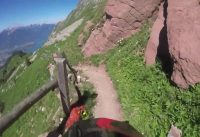 Rocher De Naye mountain bike descent, Swiss alps