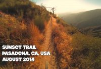 Sunset Trail Mountain Biking, Pasadena CA - August 2014