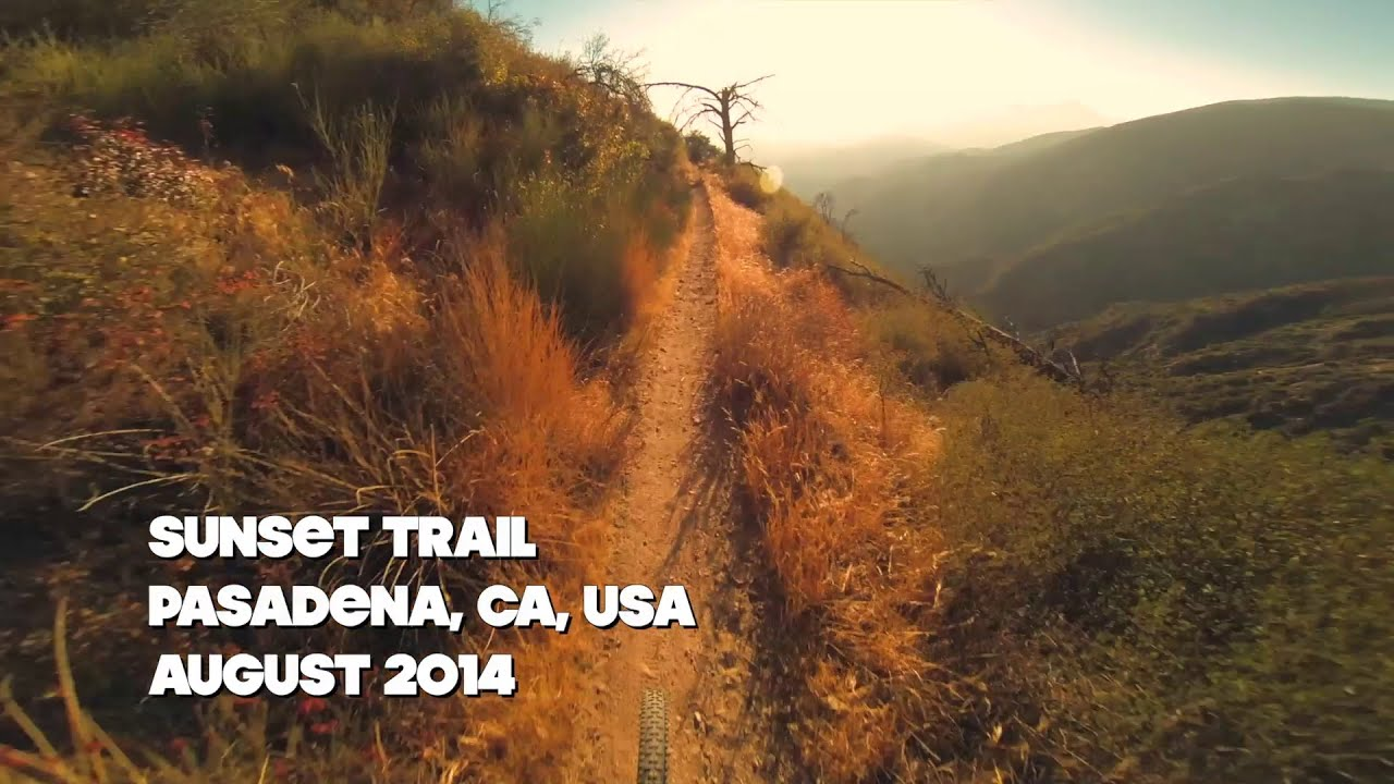 Sunset Trail Mountain Biking, Pasadena CA - August 2014
