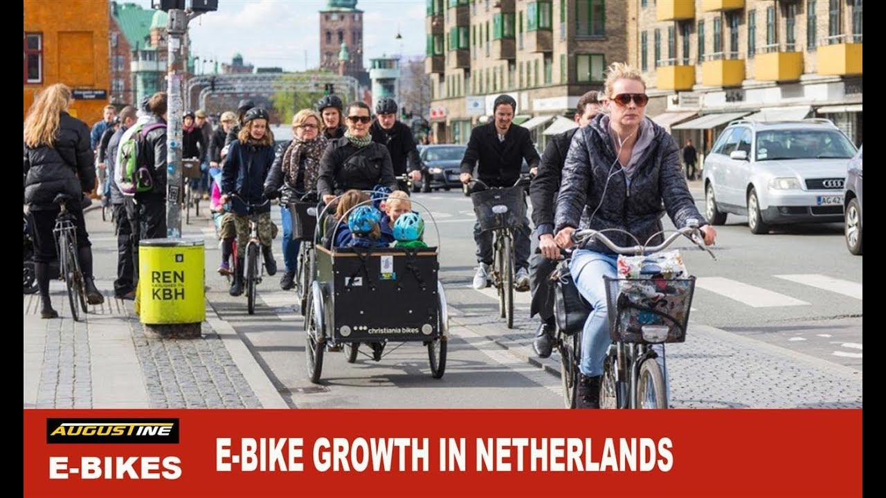 The use of electric bikes in The Netherlands continues to grow